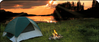 Burntside Lake Tent Camping